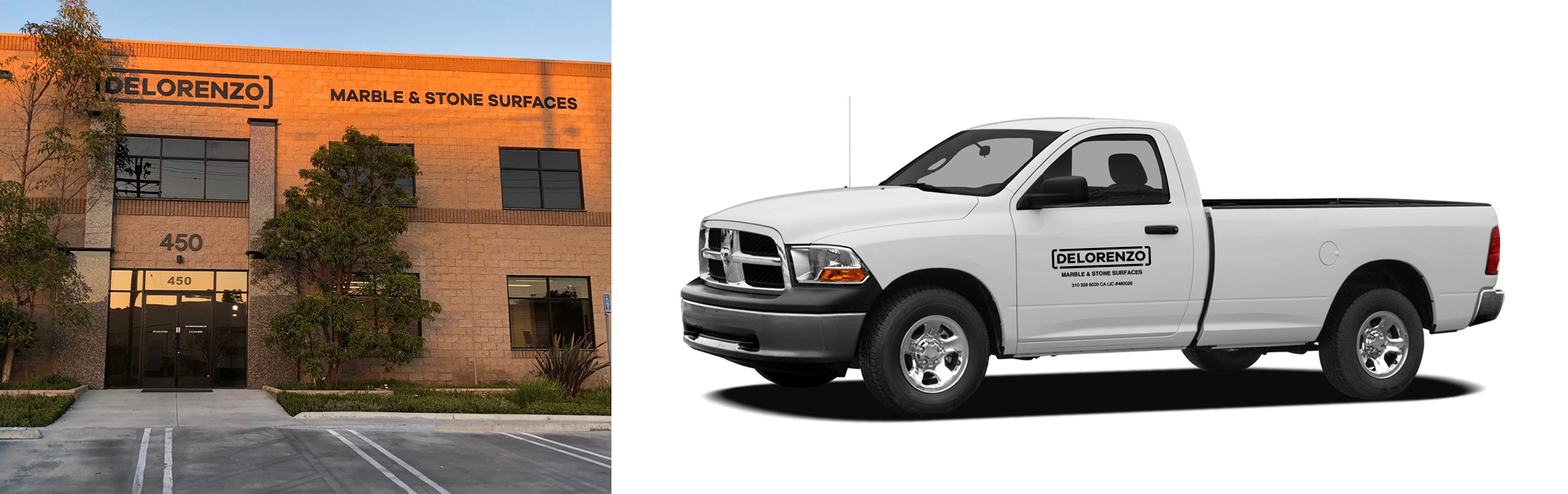 logo design for exterior signage and vehicle decals